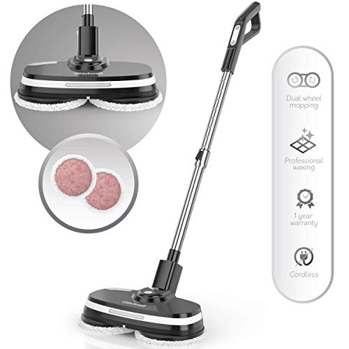 Gladwell Cordless Electric Mop - 3 In 1 Spinner, Scrubber, Waxer Quiet, Powerful Cleaner Spin Scrubber & Buffer, Polisher For Hard wood, Tile, Vinyl, Marble, Laminate Floor - 1 Year Warranty - Black by Gladwell (Image #7)