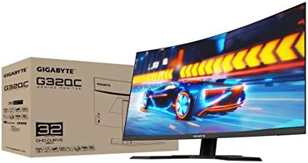 "GIGABYTE G32QC 32"" 165Hz 1440P Curved Gaming Monitor, 2560 x 1440 VA 1500R Display, 1ms (MPRT) Response Time, 94% DCI-P3, VESA Display HDR400, FreeSync Premium Pro"