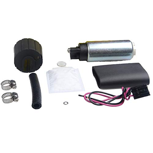 PLDDE New 255LPH High Performance GSS342 Replacement Racing Electric Gas Intank EFI Fuel Pump With Strainer/Filter + Rubber Gasket/Hose + Clamps + Universal Wiring Harness/Connector & Installation - 2000 Parts Celica Performance