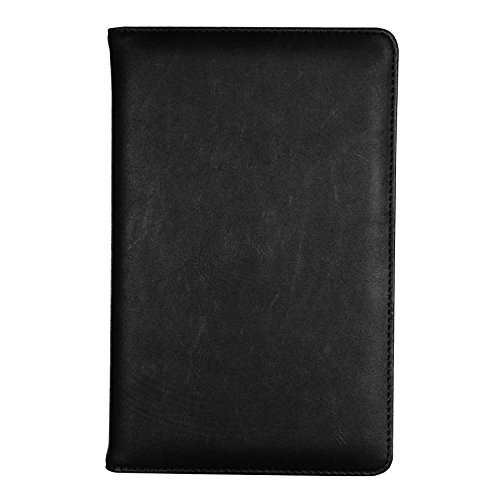 Samsill Vintage Refillable Writing Notebook, Soft Padded Cover, Classic Size, 5.25 Inch x 8.25 Inch, 120 Ruled Sheets (240 Pages), Black (Diary, Journal)