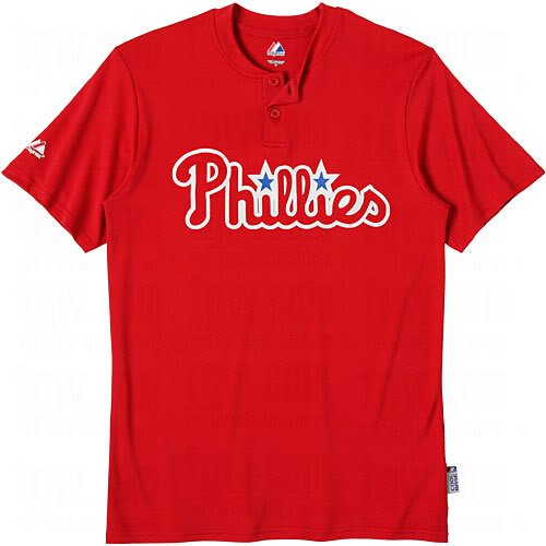 Philadelphia Phillies (YOUTH MEDIUM) Two Button MLB Officially Licensed Majestic Major League Baseball Replica Jersey