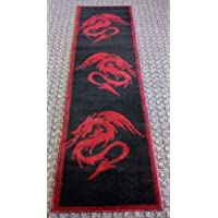 Asian Japanese Dragon Style Novelty Area Rug Carpet (2 Feet X 7 Feet 3 Inches Runner)