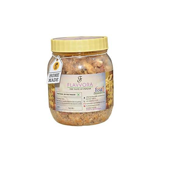 FLAVVORA Nutritious Dryfruit Punjabi Panjeeri - 400gm Prepared with Desi Ghee
