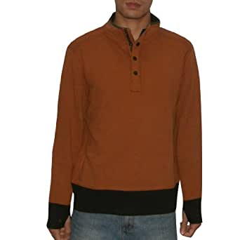 Tommy Bahama Mens Pullover Thermal Sweatshirt Large Brown