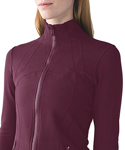 Queenie Ke Womens Sports Define Jacket Slim Fit And Cottony Soft Handfeel Size M Color Fuchsia