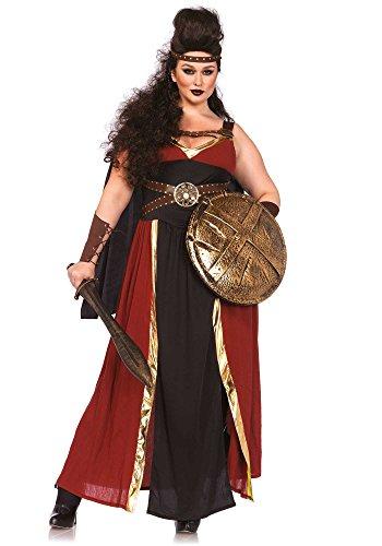 Leg Avenue Women's Plus-Size 3 Piece Regal Warrior Costume, Multi, 3X