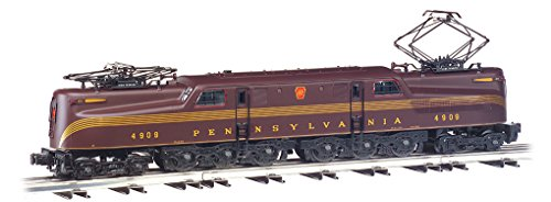 Williams by Bachmann GG-1 Electric - PRR #4909 - 5 Stripe Train (O Scale), Tuscan Red