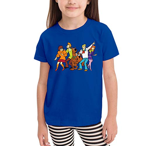 Scooby Doo and Friends Toddler Kids Unisex Short Sleeve Fancy Crew Neck T-Shirt Top Tee Size 2-6 Blue]()