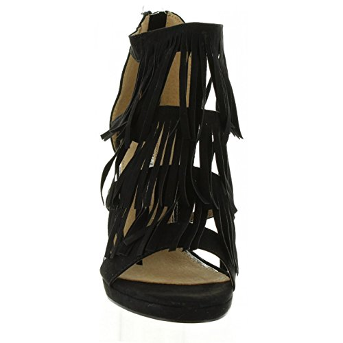 Negro Sandals For Taglia 66004 Mare Women Suedi 38 C25627 Maria 0Ov1q1