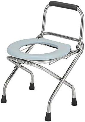 Wei Jun ベッドサイド便器椅子、ステンレス鋼ブラケットポータブル折りたたみホーム高齢トイレ妊婦のバスチェア片麻痺屋内と屋外防滴便器、2つのスタイル /-/-/ (Color : Without a commode)