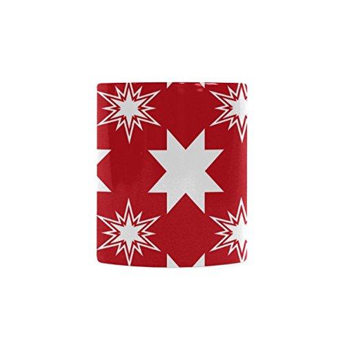 [Xmas Christmas White Ceramic Coffee Mug Tea Cup] (Shredder Costume Pattern)