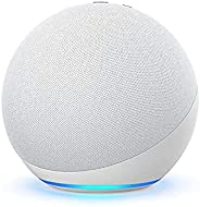Echo (4th Gen) | With premium sound, smart home hub, and Alexa | Glacier White