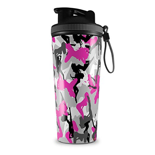 - Skin Wrap Decal for IceShaker 2nd Gen 26oz Sexy Girl Silhouette Camo Hot Pink (Fuchsia) (SHAKER NOT INCLUDED)