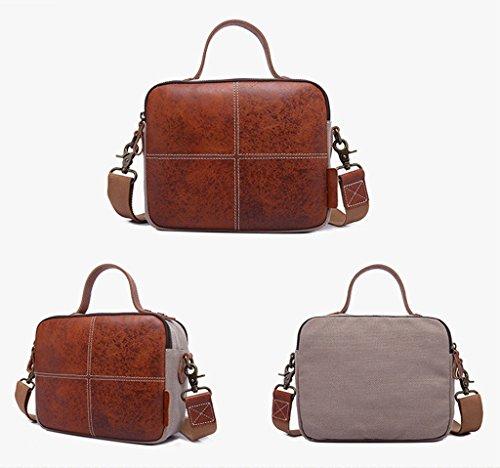 Sucastle Retro Tasche lässig Tasche Schultertasche Messenger Bag Tragetasche Sucastle Farbe: Dunkelbraun Größe: 26x22x10cm