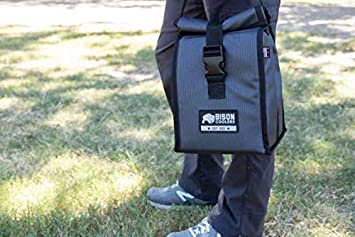 Reusable Lunch Bag Cooler 9 x 12 BISON COOLERS Soft Pack Ice Chest Work N Play Holds Upto 6 Bottles /& 2.5 Lbs of Ice