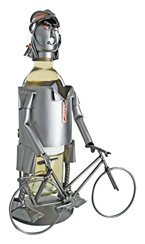 Bicycle Rider Wine (H & K Sculptures Female Bicycle Rider Wine Caddy, , null)