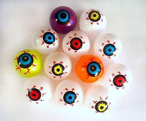 Nikki's Knick Knacks Super Creepy Plastic Hollow Eyeballs- Halloween Decorations - Zombie Eyeballs- Set of 32 -
