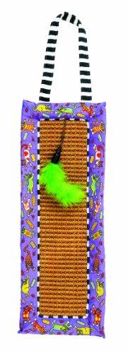 Fat Cat Scratchy Mat Doorknob Hanger for Cats with Catnip