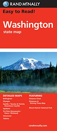 Easy Read Washington State Map product image