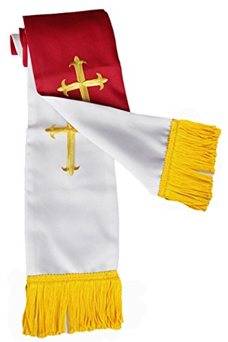 Ivyrobes Unisex Adults Reversible Clergy Stole Red/White