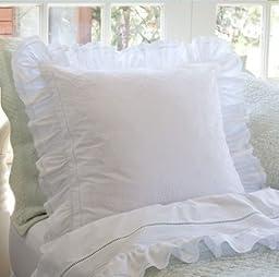 Prairie Crochet Cotton Sham Size: Euro
