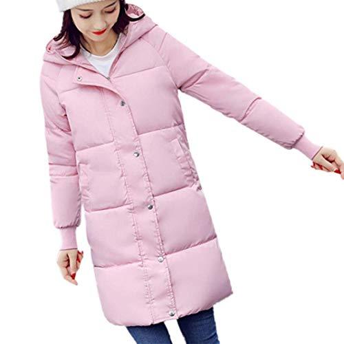 glissière plein air slim duvet à hiver fourrure rose en femmes avec Stlie pour à épaissir fermeture long fit matelassée veste facile en duvet manteaux veste capuche chaud mignonne de élégante Vestes U8qFHW4w8