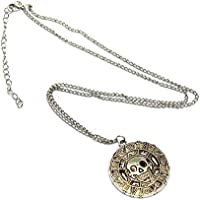 SysPod(TM) Pirates Of The Caribbean Aztec Coin Medallion Gold Silver Bronze Pendant Necklace