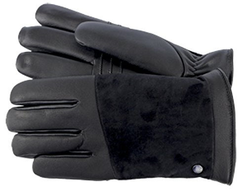 Andrew Marc UGG Mens Leather Smart Glove Snap Detail In B...