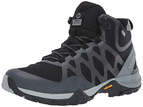 Merrell Women's Siren 3 MID Waterproof Hiking Shoe, Black, 08.0 M US