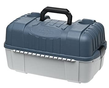 Flambeau Outdoor 2059 7-Tray Hip Roof Classic Tray Tackle Box, Blue Taupe