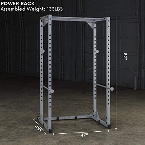 Jaula de sentadillas Powerline Power Rack color gris