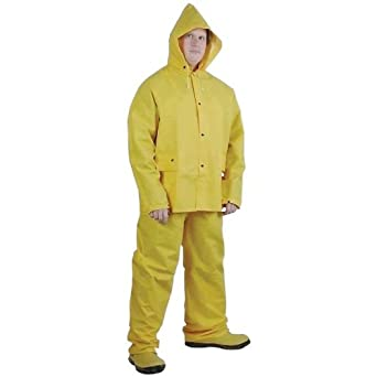 Amazon.com: 3 pieza traje impermeable de PVC – XXL ...