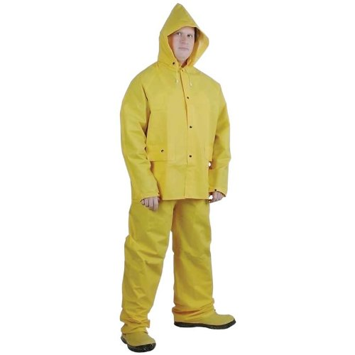 - 3 Piece PVC Rain Suit - XXL