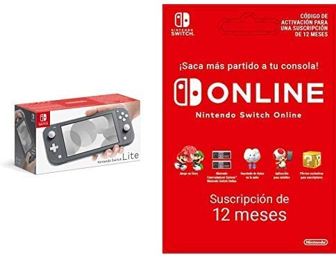Nintendo Switch Lite - Consola color Gris + Switch Online 12 Meses [Codice Download]: Amazon.es: Videojuegos