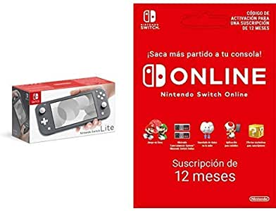 Nintendo Switch Lite - Consola color Gris + Switch Online 12 Meses ...