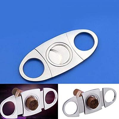 H-Honetuk Double Blades Cigar Cutter Stainless Steel Scissors Metal Pocket
