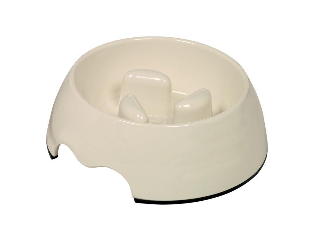 Nobby 73486-02 Gamelle Anti Renversement Blanc crème 17, 5 x 6, 5cm 400ML