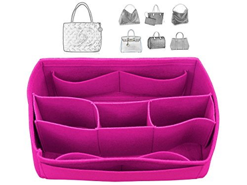 [Fits Cha.nel Bags] Felt Tote Organizer (w/ Detachable Compartments), Bag in Bag, Wool Purse Insert, Customized Tote Organize, Cosmetic Makeup Diaper - Nel Cha