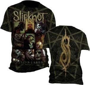 SLIPKNOT -- SICKNESS -- 2-SIDED MENS TEE (XL) (Slipknot Chris)