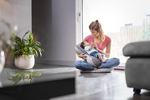 Babymoov Mom & Baby Pillow   Ultra Soft Cushion for Sleeping, Reading, Leg Support, Pregnancy, Nursing & Breastfeeding (PICK YOUR COLOR)
