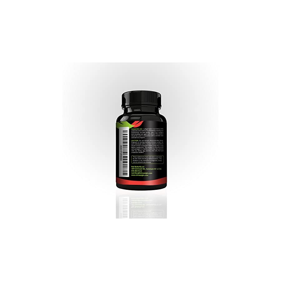 Pure CLA 1000 by Slim Weighs, Conjugated Linoleic Acid, Weight Loss Supplement, that Builds Lean Muscle Mass, and Burns Belly Fat Naturally, NON GMO, 60 soft gels