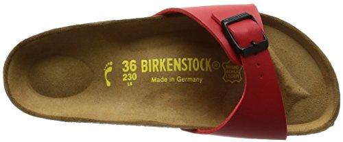 Birkenstock Madrid - Zuecos de birko flor unisex Rojo (Kirsch)