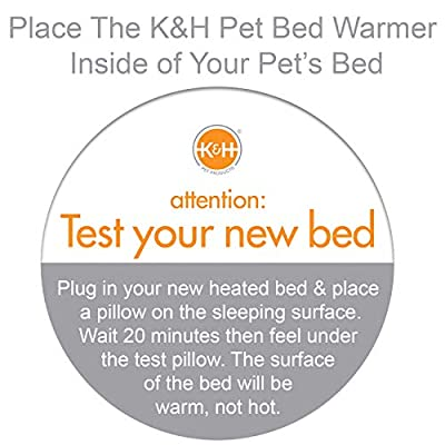 """K&H Pet Products Pet Bed Warmer X-Large Tan 15.75"""" x 25.5"""" 22W - Place Inside Most Any Pet Bed"""