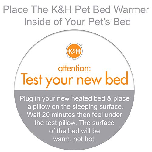 K&H Manufacturing Pet Bed Warmer, Tan, Large
