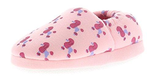Princess Stardust Kinder Pudel Aufdruck Hausschuh Weiches Textil Futter und Socke für Zusätzlichen Komfort Textil Bedeckt Sohle - Pink - UK Größen 6-12