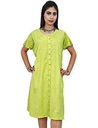 Summer Rayon Beach Dress Embroidered Casual Indian Gift For Women Boho Sundress