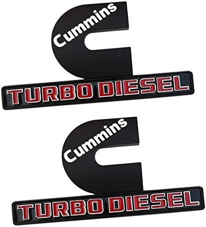 negra y roja cromada Insignia con emblemas de modificaci/ón de TDI Sport Edition