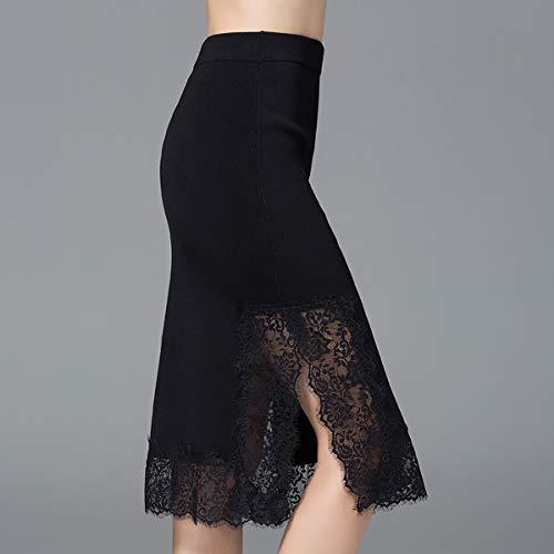 Femme Valin Jupe Solide Couleur Pull M2718404 Noir Svelte 7zqYaTw