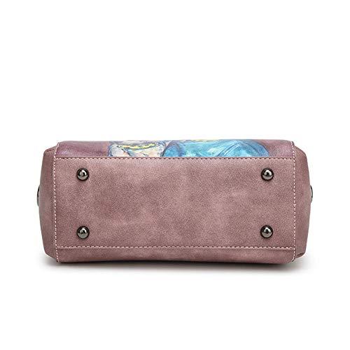 Salvaje hlh Casual Rosado Niña Manga Paquete Diagonal Impresa Hombro Simple Tendencia Bolso Bolsos azul XBxBTO7qw0