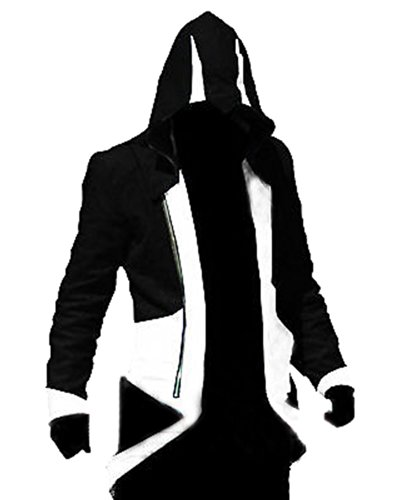 Ezio Robes (Rulercosplay Assassin's Creed 3 Connor Kenway Hoodie Jacket (Medium, Black& White))